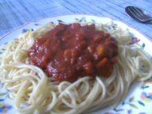 Spagetti in Gemüse-Tomaten-Soße - Rezept