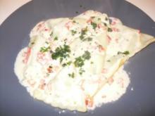 Spinat Kaese Ravioli in Paprika Sahne Sosse - Rezept