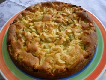 Rhabarber - Apfel - Kuchen - Rezept