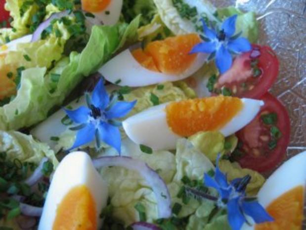 Salat-Herzen mit Borretschblüten ... - Rezept - Bild Nr. 5