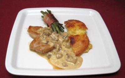 Schweinefilets an Kartoffel-Tarte und grünen Bohnen - VIP-Tribüne - Rezept