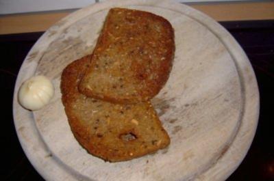 Beilage: Geröstetes Brot mit Knoblauch - Rezept