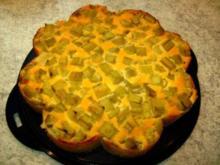 Rhabarberkuchen mit Schmandguß - Rezept