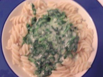 Spinat-Käse-Sauce - Rezept