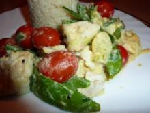 Fisch: Fisch grün-weiß mit kleinen roten Tupfen - Rezept