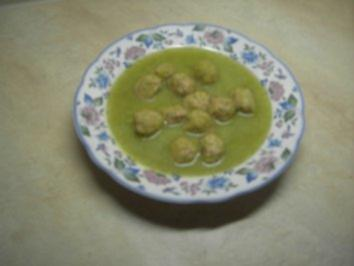 Suppen - grüne Frühlingssuppe mit Hackbällchen - Rezept