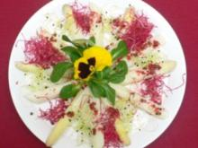 Spargelsalat in rosa Pfeffervinaigrette - Rezept - Bild Nr. 2