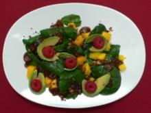 Babyspinat mit Mango und karamellisierten Macadamia-Nüssen an Dattelvinaigrette - Rezept - Bild Nr. 2