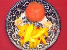 Grapefruitgelee mit Rosenwasser und Mango al Tequila - Rezept - Bild Nr. 2