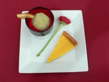 Zitronenkuchen und Minzeis - Tarte au citron et glace a la menthe - Rezept - Bild Nr. 2