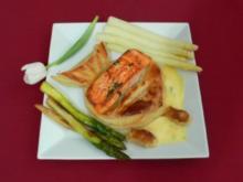Lachs im Blätterteig mit Spargel - Feuillete au saumon et asperges au cerfeuil - Rezept - Bild Nr. 2