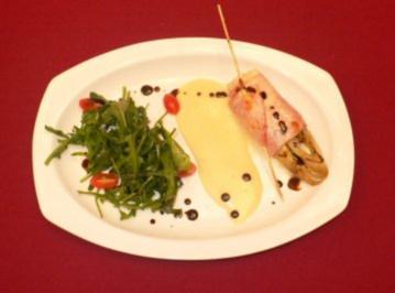 Chicoree a l´Olli mit Weißweinsoße an Rucolasalat - Rezept - Bild Nr. 2