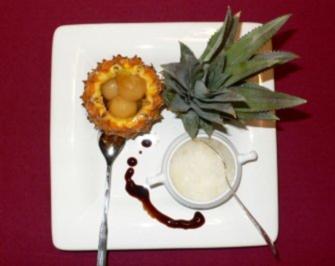 Flambierte Ananas mit Champagnergranité - Rezept - Bild Nr. 2