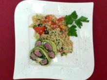 Lammfilet im Mangold-Zucchinimantel mit Olivengraupen - Rezept - Bild Nr. 2