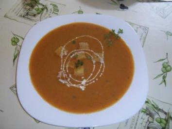 Spargel-Tomatencremsuppe - Rezept