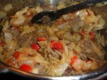 Paprika-Gyros im Kohl-Kartoffelgemüse - Rezept
