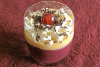 Rezept: Kirschen mit Eierlikör und Sahne