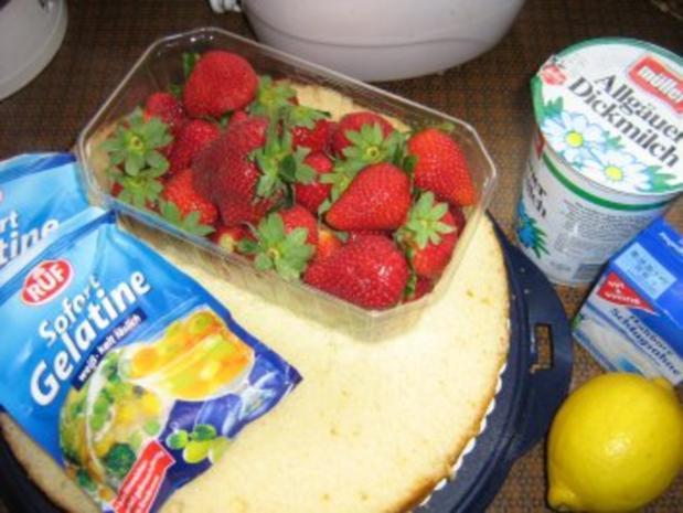 Erdbeer-Dickmilch-Sahne- Torte - Rezept - Bild Nr. 2