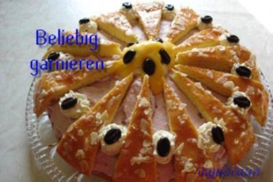 Preiselbeer-Quark-Sahne-Torte - Rezept