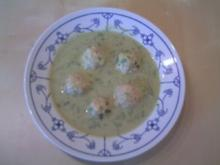 Bärlauchsuppe mit Klößchen - Rezept