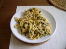 Fettucine mit Lachs und Zucchini - Rezept