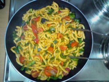 Spätzle mit Tomate und Paprika - Rezept - Bild Nr. 2