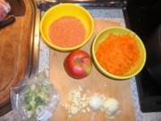 rote Linsensuppe mit Apfel und Hühnchenfilet - Rezept
