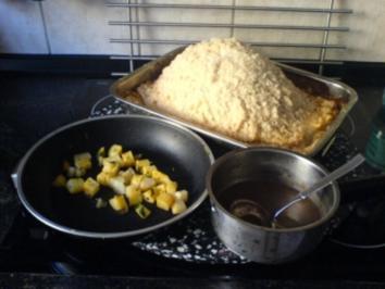 Rehkeule in der Salzkruste mit  Birnen-Kartoffeln - Rezept