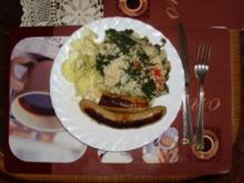 aus der Küche ins KB      REIS  mit Spinat - Rezept