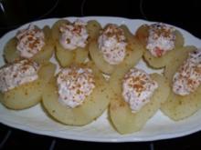 Dessert...Birnen mit Mascarpone-Amarettini-Füllung - Rezept
