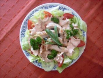Putenstreifen auf Salat - Rezept