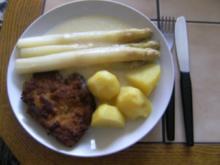 HAUPTGERICHT - Schweinekotelett, Spargel und Kartoffeln - Rezept