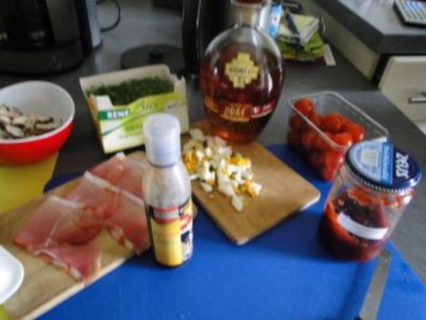 Gebratener Spargel mit gebr. Schinken, Pilze und und Parmesan, ergibt - Rezept - Bild Nr. 4