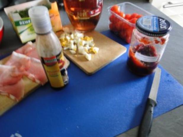 Gebratener Spargel mit gebr. Schinken, Pilze und und Parmesan, ergibt - Rezept - Bild Nr. 5