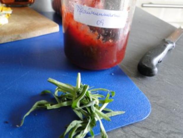 Gebratener Spargel mit gebr. Schinken, Pilze und und Parmesan, ergibt - Rezept - Bild Nr. 6