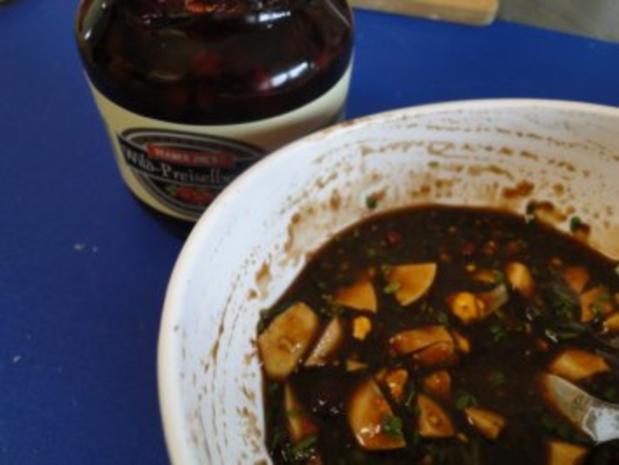 Gebratener Spargel mit gebr. Schinken, Pilze und und Parmesan, ergibt - Rezept - Bild Nr. 8