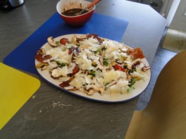 Gebratener Spargel mit gebr. Schinken, Pilze und und Parmesan, ergibt - Rezept - Bild Nr. 11