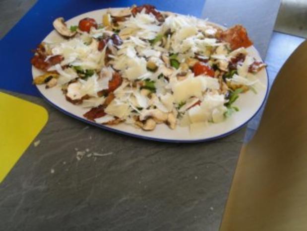 Gebratener Spargel mit gebr. Schinken, Pilze und und Parmesan, ergibt - Rezept - Bild Nr. 12