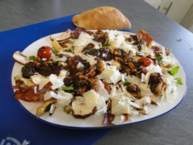 Gebratener Spargel mit gebr. Schinken, Pilze und und Parmesan, ergibt - Rezept - Bild Nr. 13