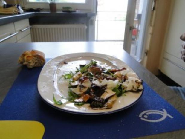 Gebratener Spargel mit gebr. Schinken, Pilze und und Parmesan, ergibt - Rezept - Bild Nr. 14