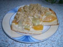 Rhabarber-Pfirsich-Kuchen - Rezept
