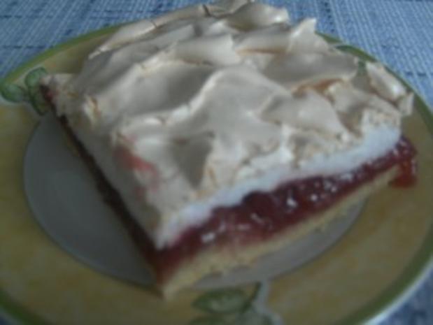 Rharbarber-Kirsch-Kuchen mit Baiser-Decke - Rezept - Bild Nr. 2