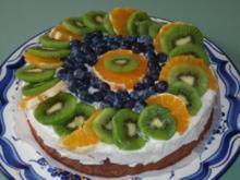 Quark-Joghurt Torte mit Früchten - Rezept