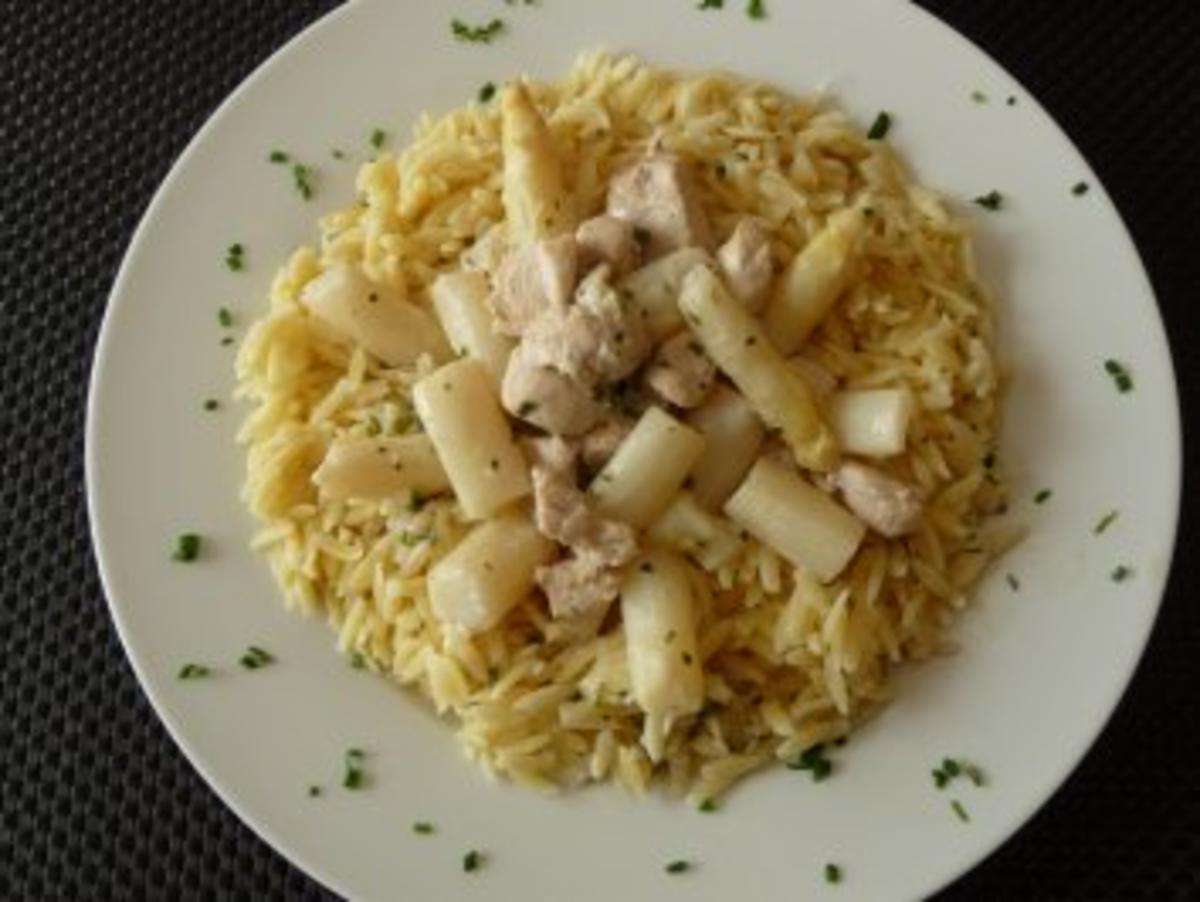 Bilder für Filet mit Spargel auf Nudelbett - Rezept