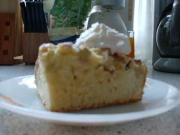 Apfel-Rhabarber-Vanille-Kuchen - Rezept