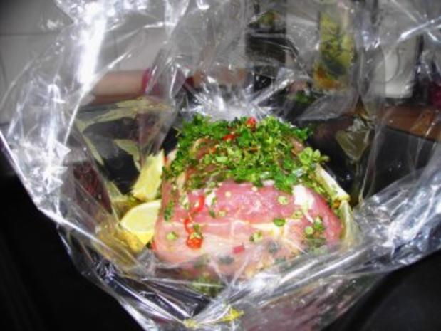 Schweinesteakbraten mit Chili und Zitronenthymian aus dem Ofen - Rezept - Bild Nr. 3
