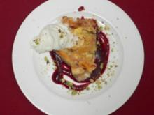 Pfirsichtarte mit Sauce de Cassis - Rezept - Bild Nr. 2