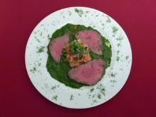 Filet vom Rind mit Fenchel, Majoran, Petersilien-Pesto und eingelegten Tomaten - Rezept - Bild Nr. 2