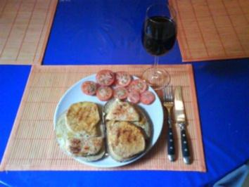 Abendbrot: Minutensteak auf Weizen-/Roggentoast - Rezept
