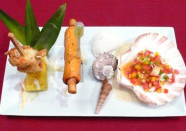 Dreierlei Gambas - Ensalada Picante, Mojito-Dressing und Pina Colada Style - Rezept - Bild Nr. 2